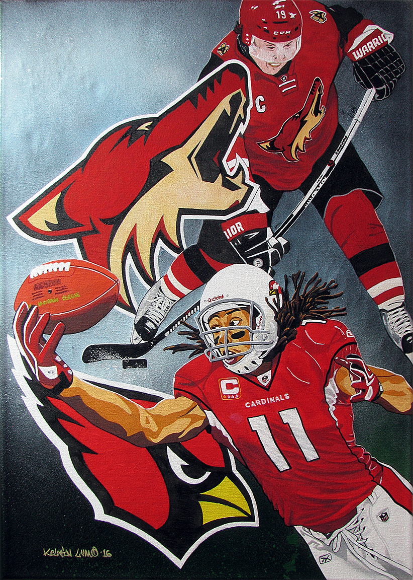 Commission painting: Professional Sports Arizona