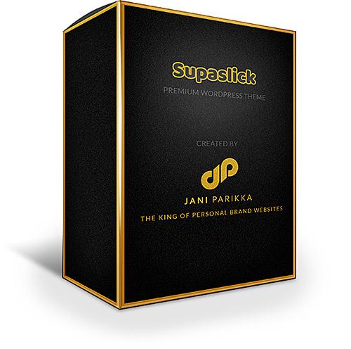 Supaslick WordPress theme virtual package design